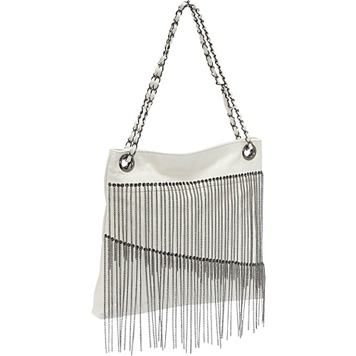 Ashley M Faux Leather Chain Fringe Bag - Tote