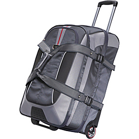 AT6 26'' Expandable Wheeled Duffel with Backpack Straps Greystone/Shadow/Black