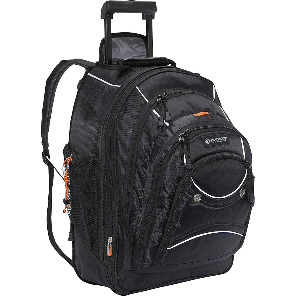 Outdoor Products Sea-Tac Rolling Backpack Black - Outdoor Products Rolling Backpacks