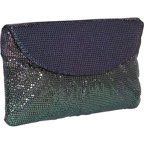 Whiting and Davis Classic Shirred Flap Clutch