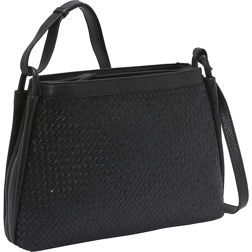 Derek Alexander Two Top Zip - Black - Handbags, Leather Handbags