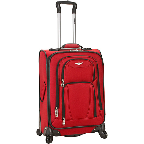 Rockland Luggage York 20 Spinner Carry On - Red