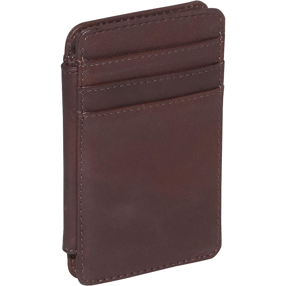 Derek Alexander Double Sided Credit Card Holder - Brown - Work Bags & Briefcases, Men's Wallets