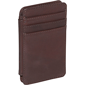 Double Sided Credit Card Holder Brown