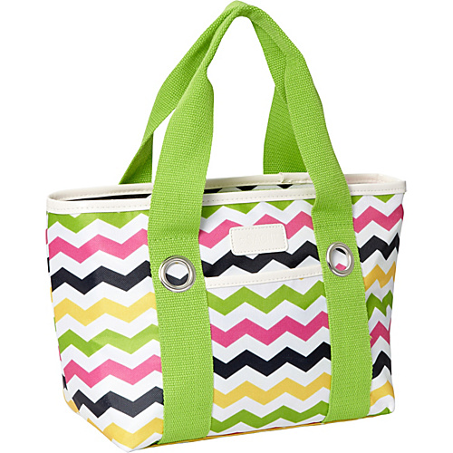 Sachi Insulated Lunch Bags Style 11 Ladies'' Lunch Tote Multi Color Chevron - Sachi Insulated Lunch Bags Travel Coolers
