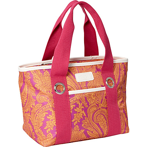 Sachi Insulated Lunch Bags Style 11 Ladies'' Lunch Tote Pink Paisley - Sachi Insulated Lunch Bags Travel Coolers
