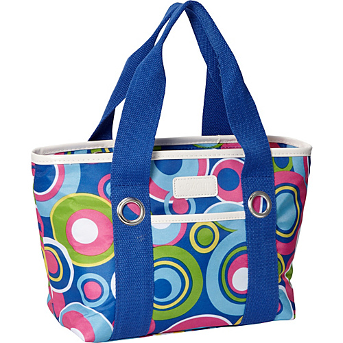 Sachi Insulated Lunch Bags Style 11 Ladies'' Lunch Tote Blue Circles - Sachi Insulated Lunch Bags Travel Coolers