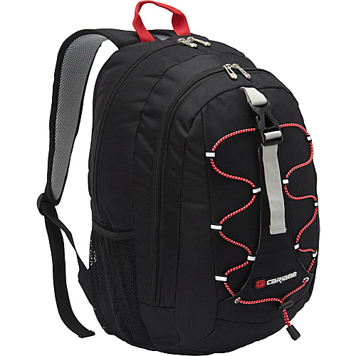 Caribee Impala Day Pack Black - Caribee School & Day Hiking Backpacks