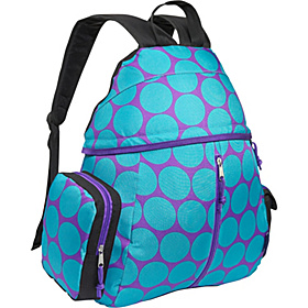 Big Dots Aqua Soccer Bag Big Dots Aqua