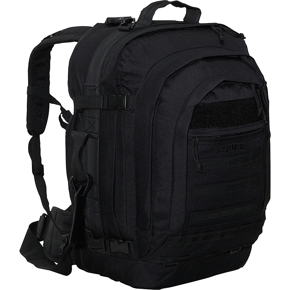 SOC Gear Bugout Bag - 600 Denier Poly-Canvas Black - SOC Gear Travel Backpacks