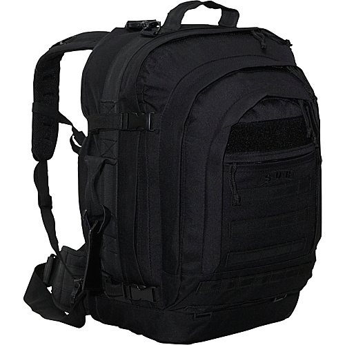 SOC Gear Bugout Bag -  600 Denier Poly/Canvas Black - SOC Gear Travel Backpacks
