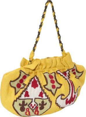 Moyna Handbags Handloom Silk Ikat Embroidered Frame Bag - Clutch