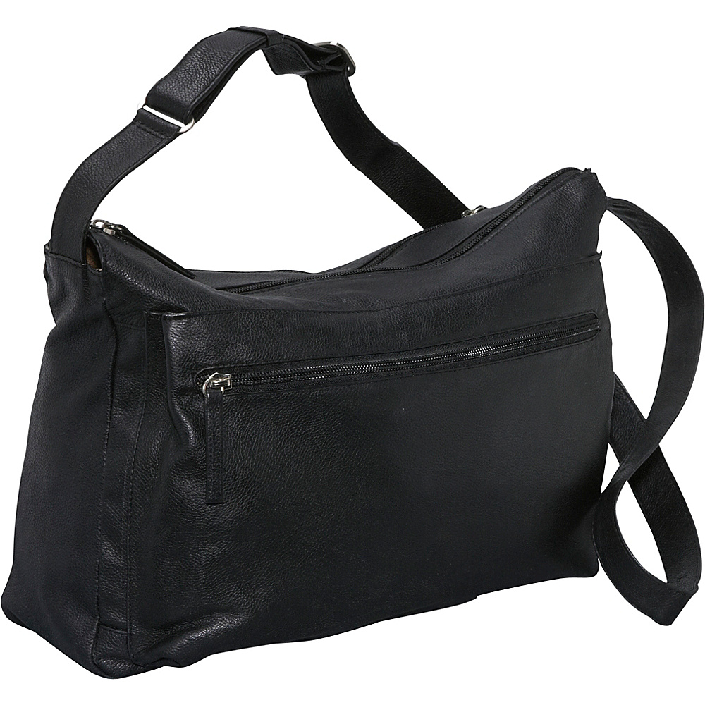 Derek Alexander Large EW Top Zip - Black - Handbags, Leather Handbags