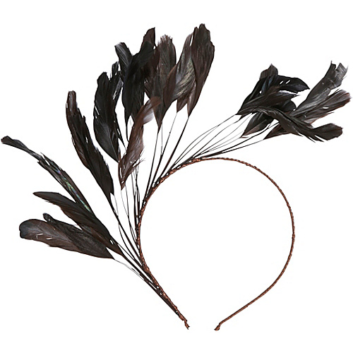 Magid Feather Headband Brown - Magid Hair Accessories