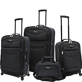 4 Piece Exp Spinner Luggage Set Charcoal