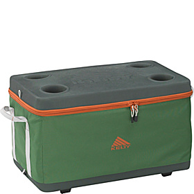 Folding Cooler 50L Forest green