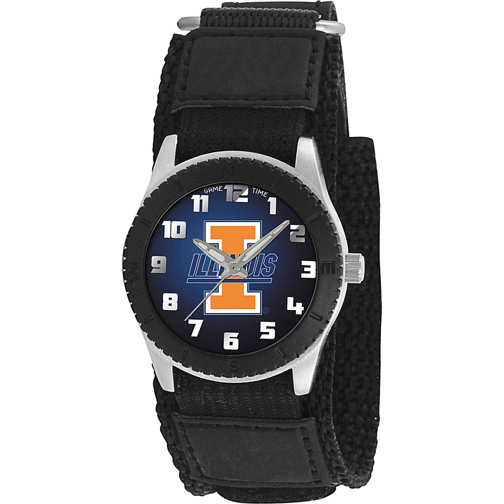 Game Time Rookie Black College Illinois Fighting Illini Black Game Time Watches