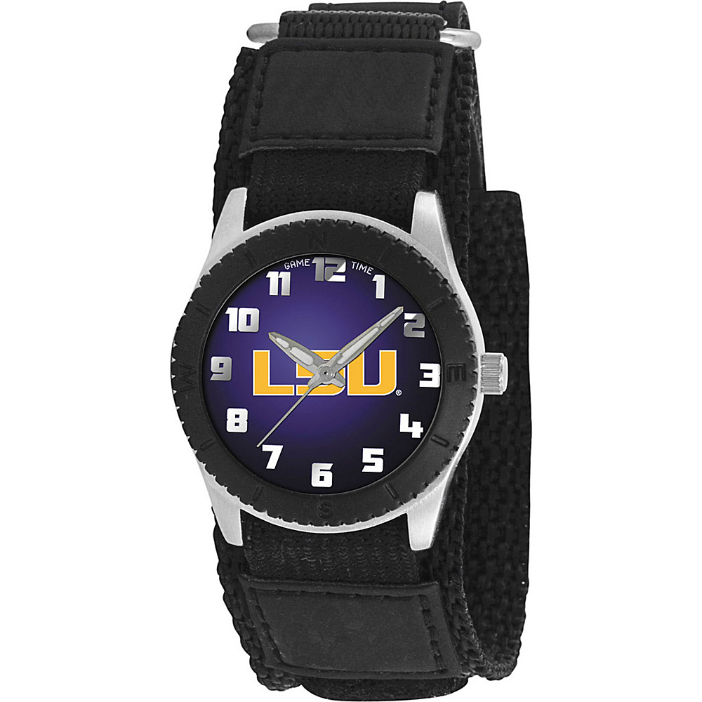 Game Time Rookie Black College Louisiana State Tigers Black Game Time Watches