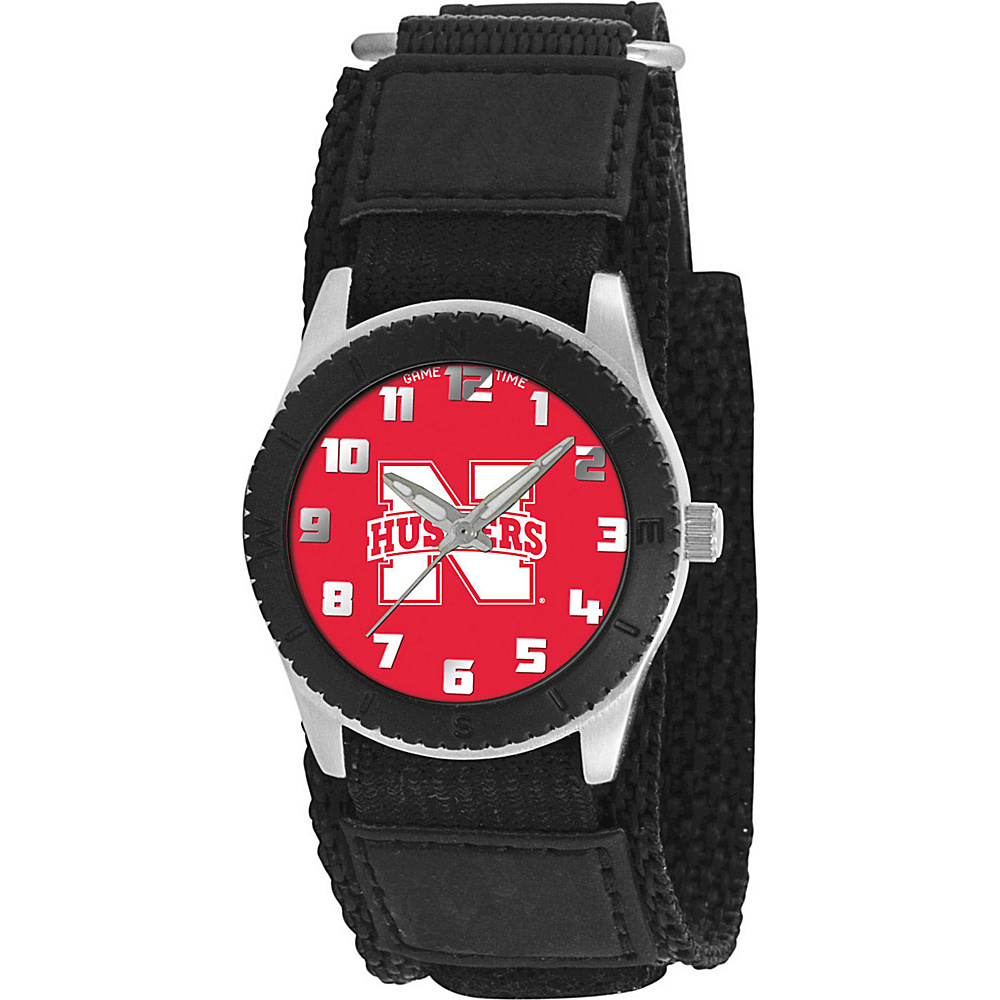 Game Time Rookie Black College Nebraska Cornhuskers Black Game Time Watches