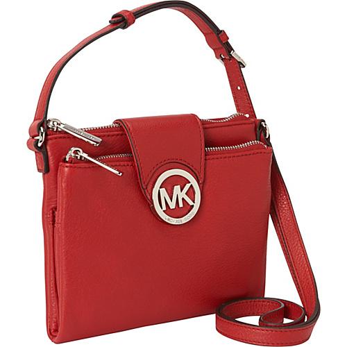 MICHAEL Michael Kors Fulton Large Crossbody Bag Scarlet - MICHAEL Michael Kors Designer Handbags