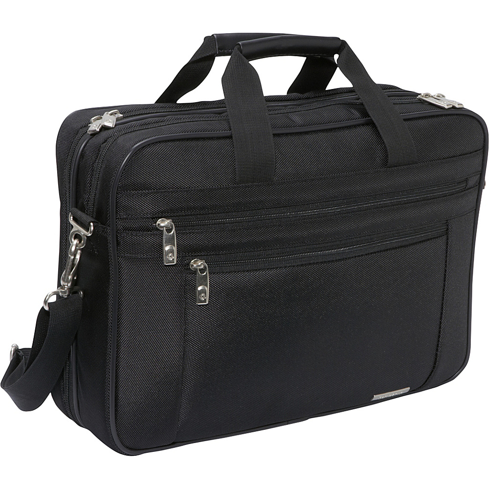 Samsonite Classic 2 Gusset PFT Laptop Briefcase - Black - Work Bags & Briefcases, Non-Wheeled Business Cases