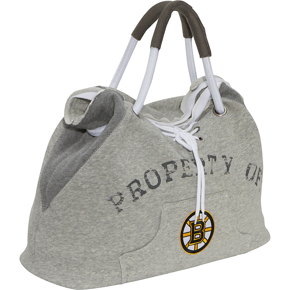 Littlearth NHL Hoodie Tote Grey/Boston Bruins Boston Bruins - Littlearth Fabric Handbags - Handbags, Fabric Handbags
