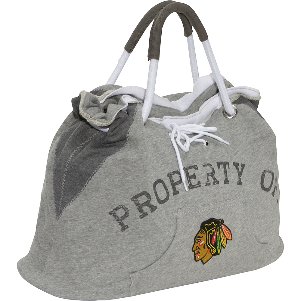 Littlearth NHL Hoodie Tote Grey/Chicago Blackhawks Chicago Blackhawks - Littlearth Fabric Handbags - Handbags, Fabric Handbags