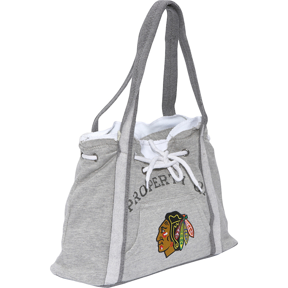 Littlearth NHL Hoodie Purse Grey/Chicago Blackhawks Chicago Blackhawks - Littlearth Fabric Handbags - Handbags, Fabric Handbags