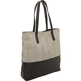 Emma Lined Shopper White