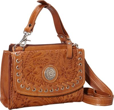 American West Texas Two Step harvest gold - American West Leather Handbags
