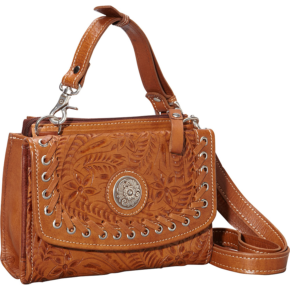 American West Texas Two Step harvest gold American West Leather Handbags