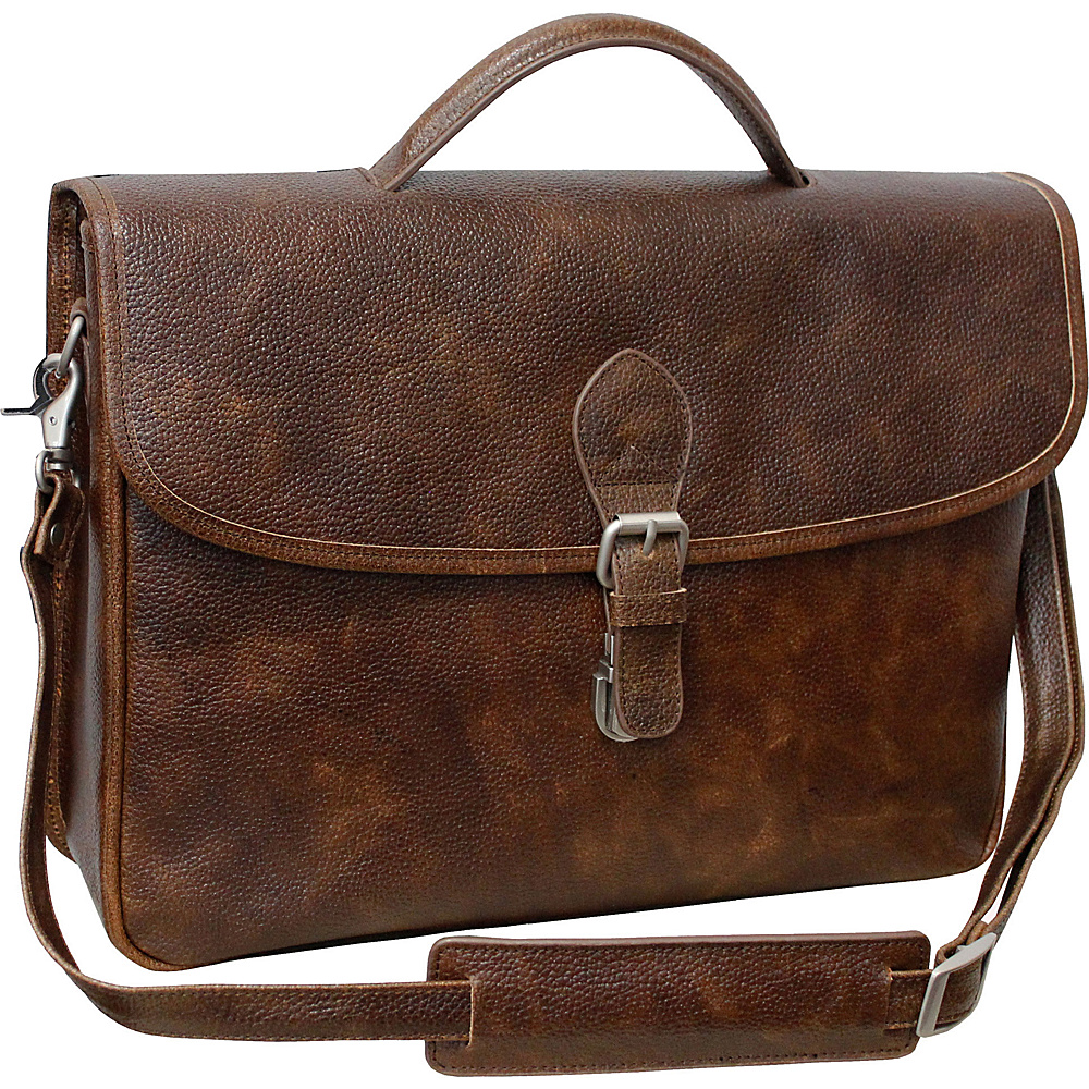 AmeriLeather Montana Leather Executive Briefcase - Work Bags & Briefcases, Non-Wheeled Business Cases