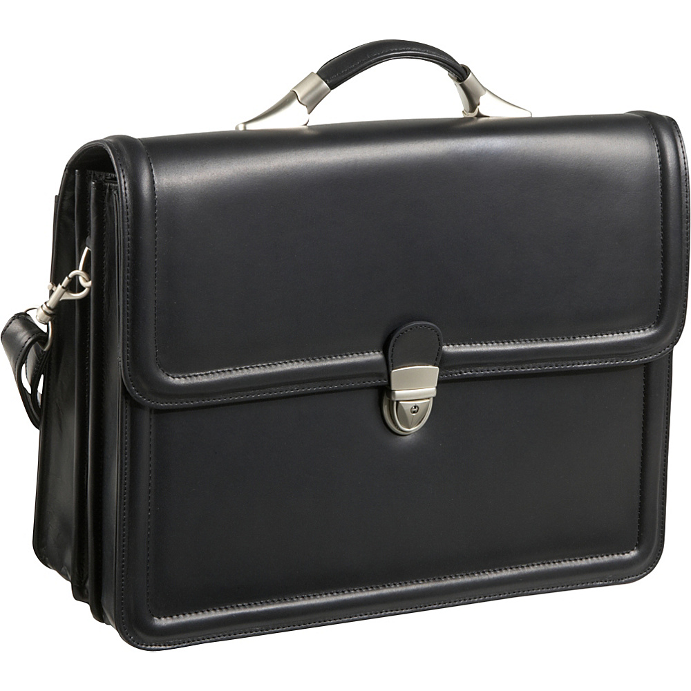 AmeriLeather APC Savvy Leather Executive Briefcase - Work Bags & Briefcases, Non-Wheeled Business Cases