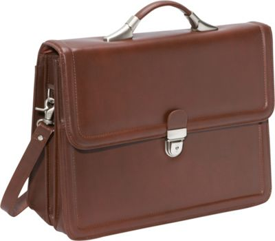 Amerileather APC Savvy Leather Executive Briefcase Brown ...