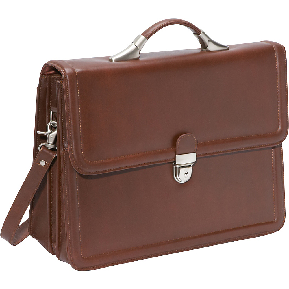 AmeriLeather APC Savvy Leather Executive Briefcase Brown - AmeriLeather Non-Wheeled Business Cases - Work Bags & Briefcases, Non-Wheeled Business Cases