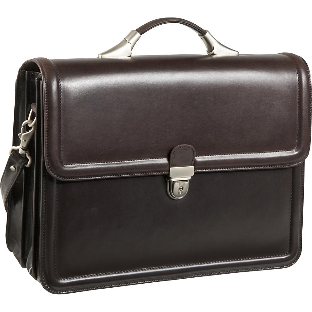 AmeriLeather APC Savvy Leather Executive Briefcase