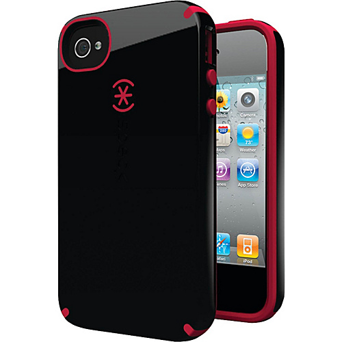 Speck iPhone 4S Candyshell Case - Black/Pomodoro