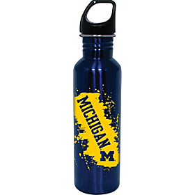 Michigan Wolverines Water Bottle Blue