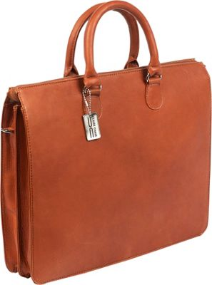 ClaireChase Sarita iPad Briefcase Saddle - ClaireChase Non-Wheeled Business Cases