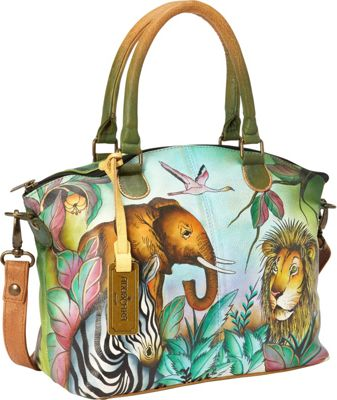 Anuschka Medium Convertible Satchel African Adventure - Anuschka Leather Handbags