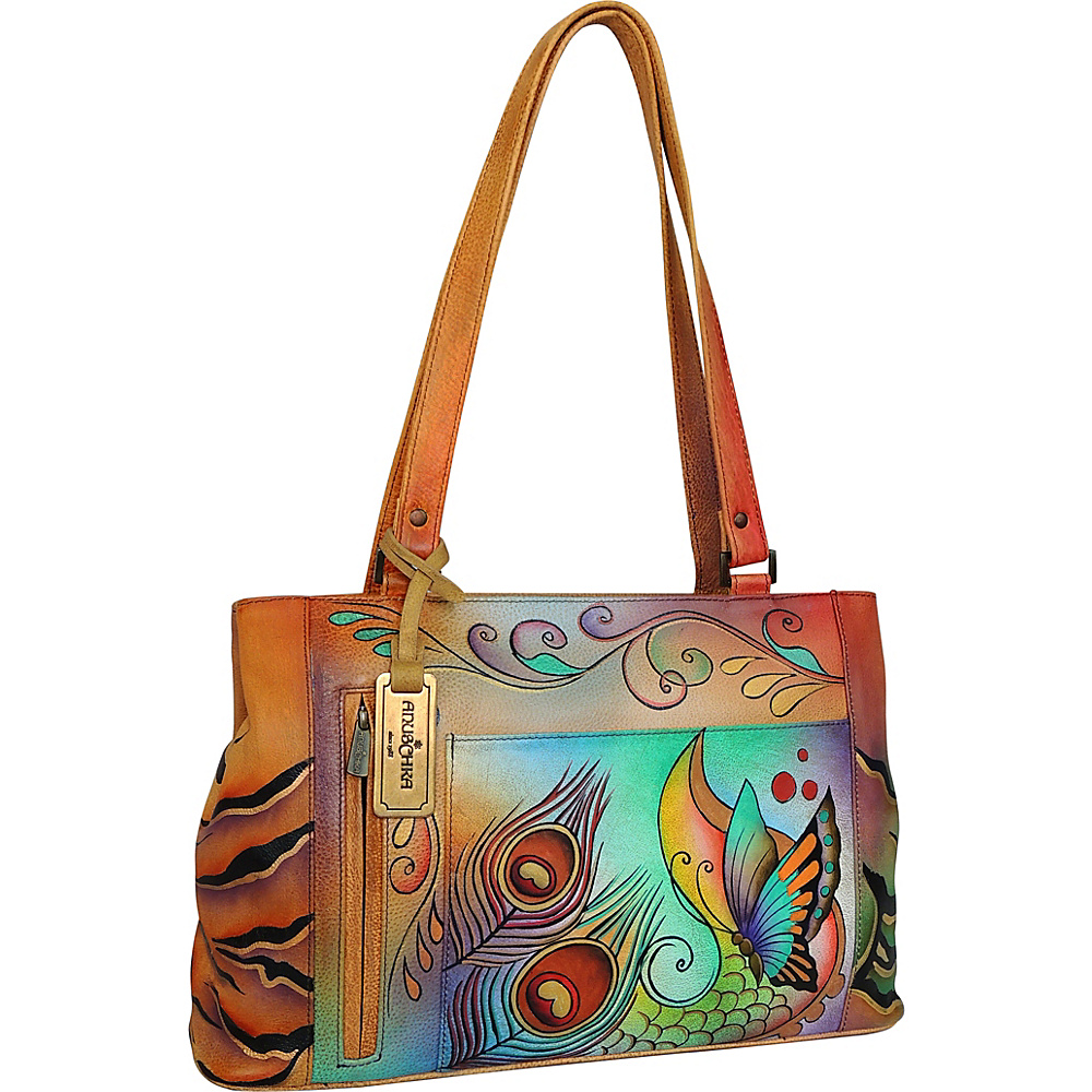Anuschka Large Shopper: Collage Tote Collage - Anuschka Leather Handbags