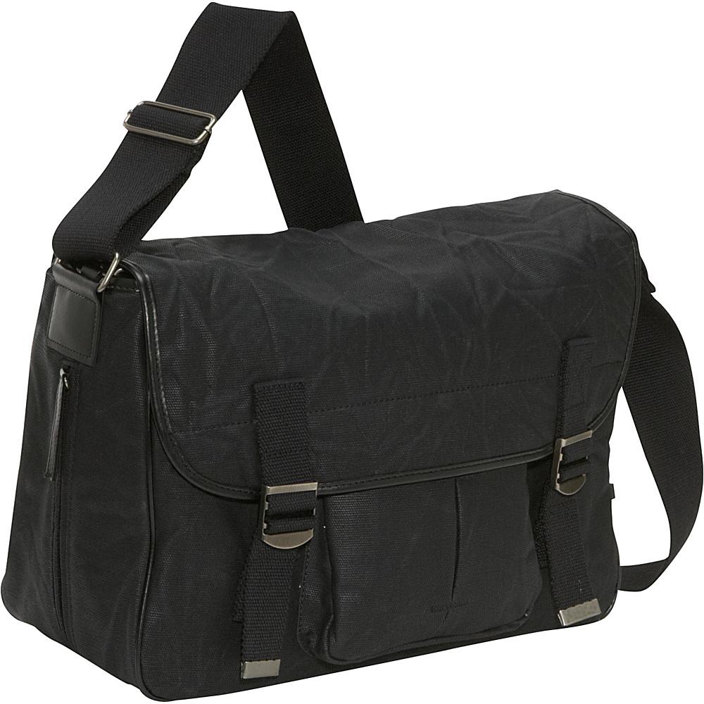 OiOi Waxed Canvas Satchel - Black - Handbags, Diaper Bags & Accessories