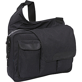 Black Pinstripe Messenger II bag Black pinstripe