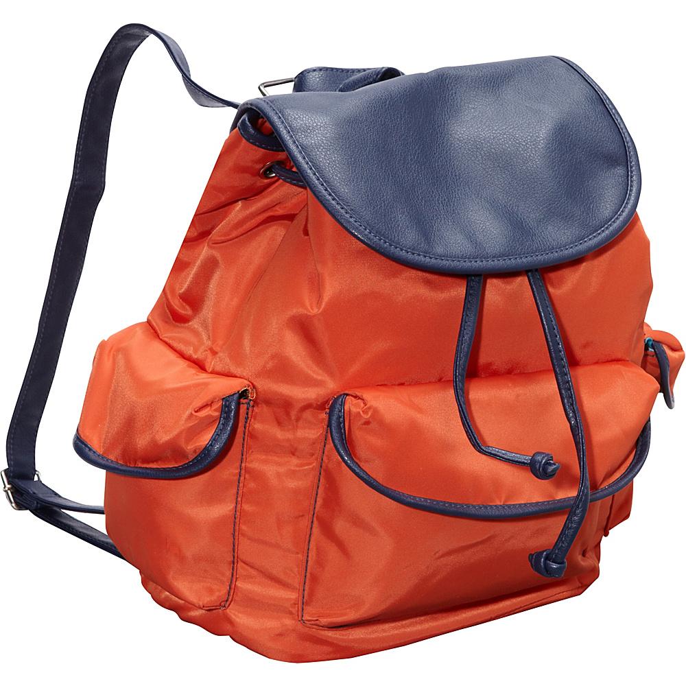 Hadaki Market Pack Orange/Navy - Hadaki Manmade Handbags - Handbags, Manmade Handbags