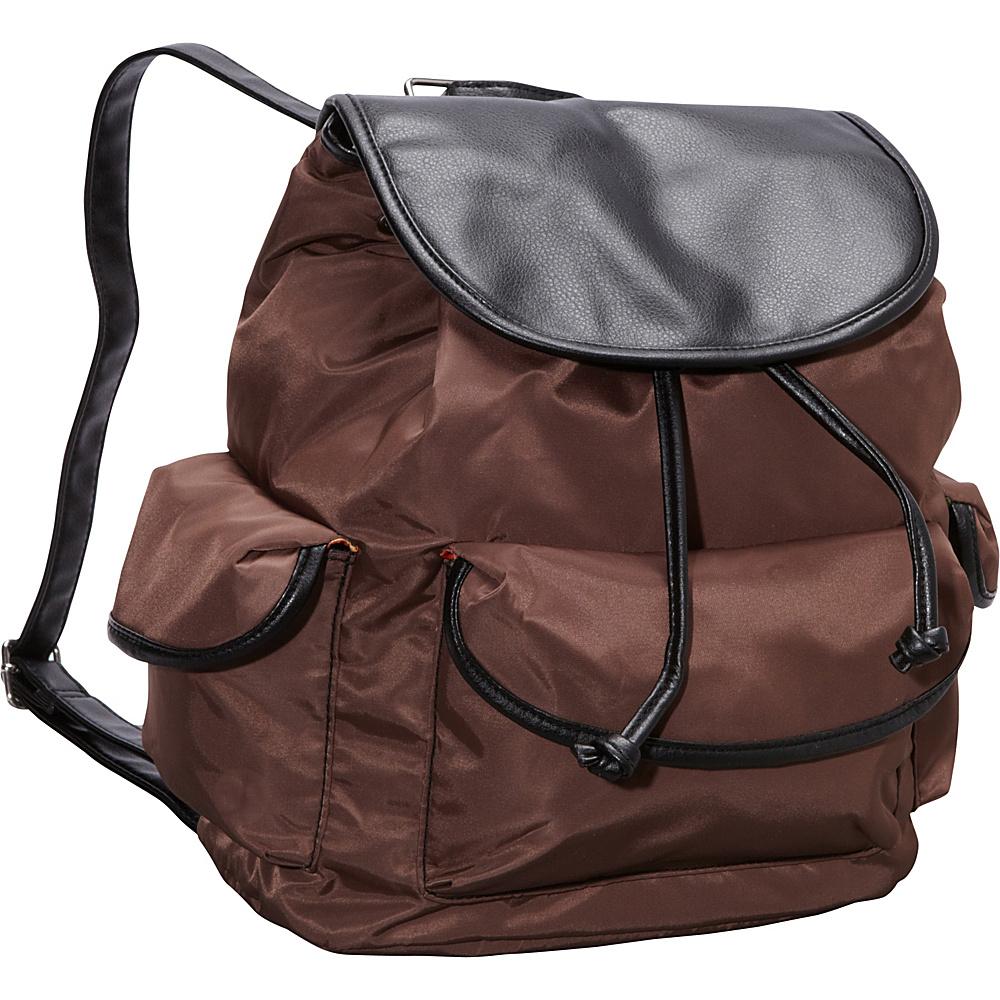 Hadaki Market Pack Chocolate/Black - Hadaki Manmade Handbags - Handbags, Manmade Handbags