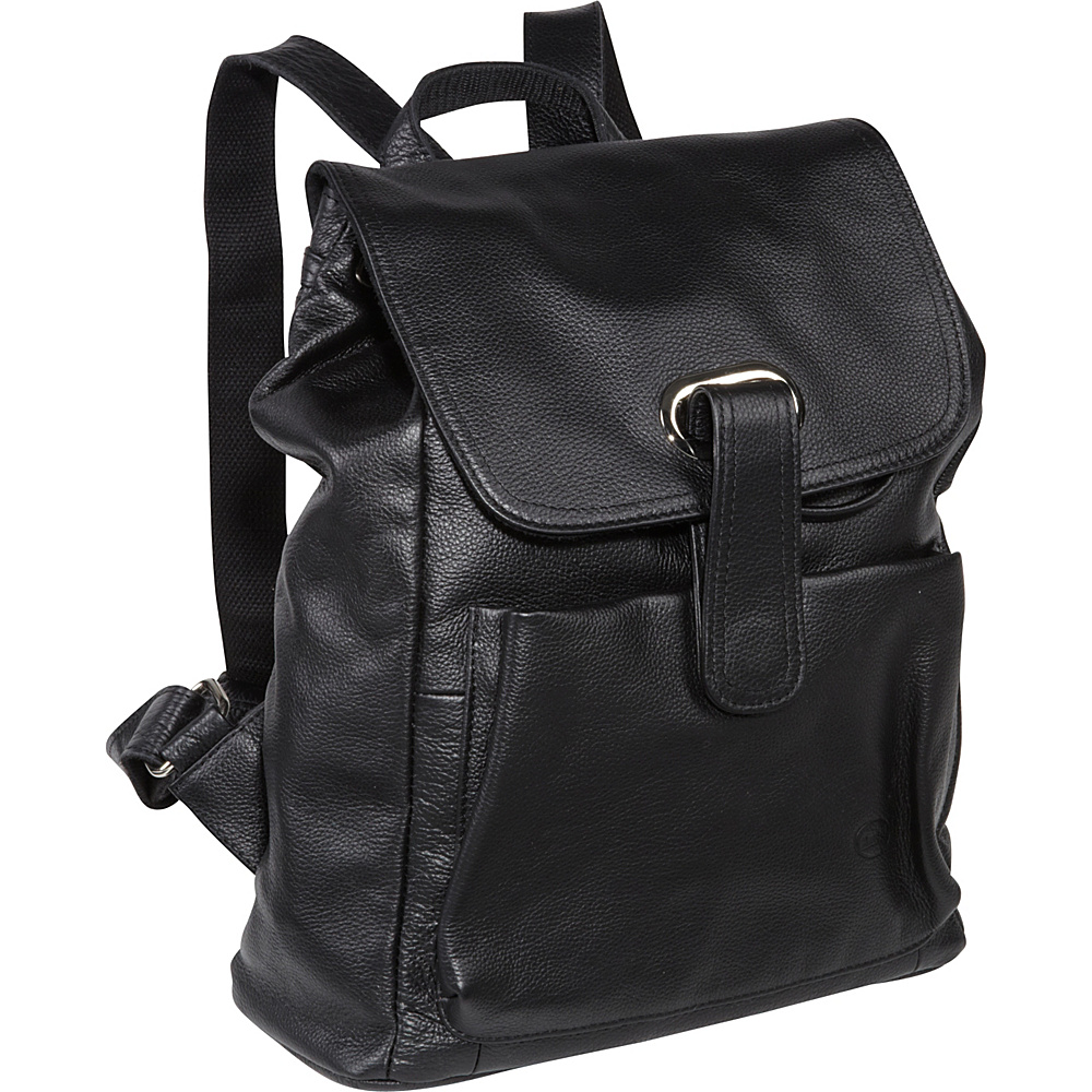 AmeriLeather Miles Backpack - Black - Handbags, Leather Handbags