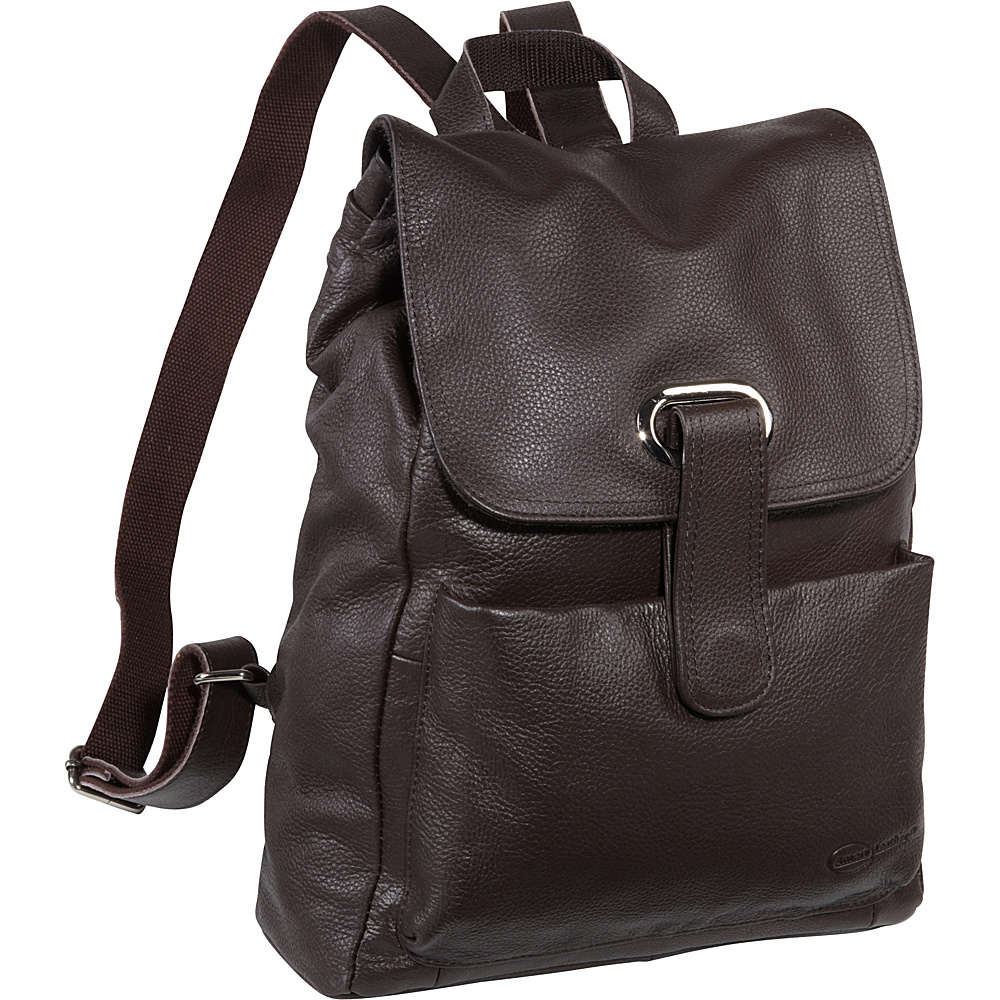 AmeriLeather Miles Backpack - Dark Brown - Handbags, Leather Handbags