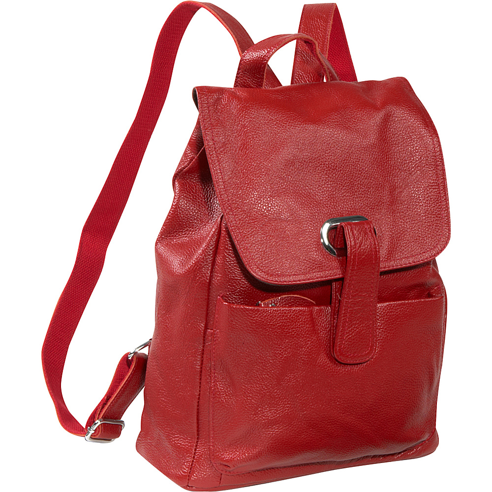 AmeriLeather Miles Backpack Red - AmeriLeather Leather Handbags - Handbags, Leather Handbags