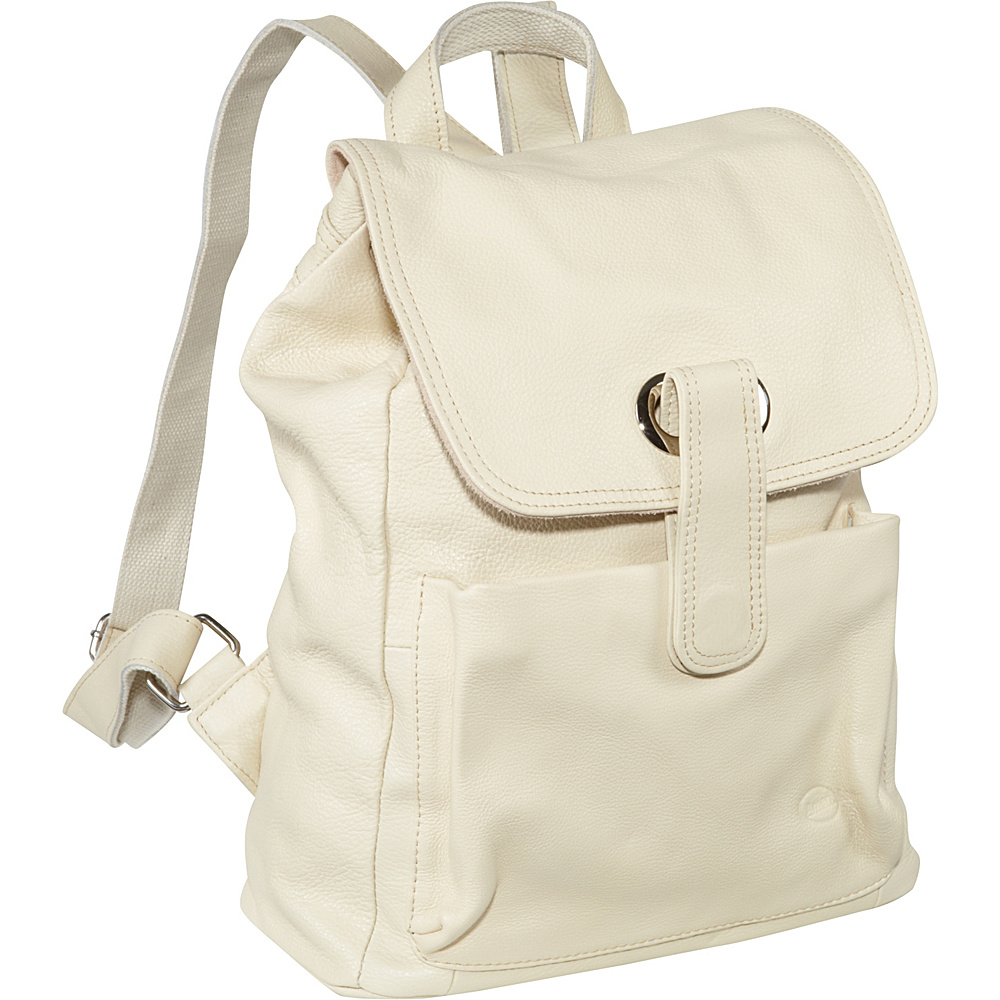 AmeriLeather Miles Backpack Off White - AmeriLeather Leather Handbags - Handbags, Leather Handbags