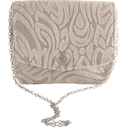 Baxter Designs Square Cascade Clutch Cream - Baxter Designs Evening Bags